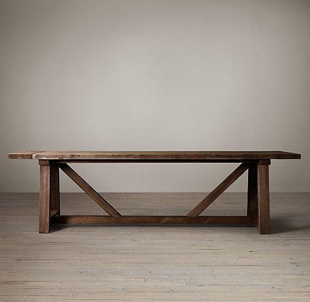 Salvaged Wood Beam Extension Table Dining Room  : 03fdfe526647f9019b5eb3ef76c10b6b from pinterest.com size 605 x 590 jpeg 36kB