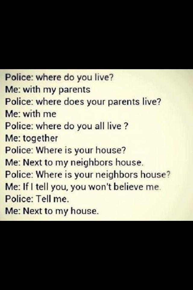How I respond when someone I don't like asks me where I live