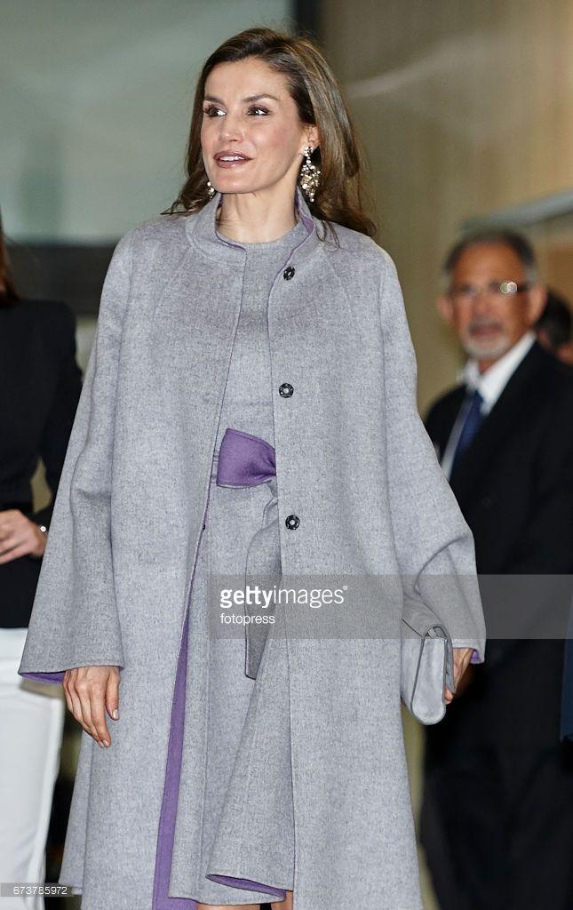 Queen Letizia of Spain attends the Educative Congress of Rare Diseases at Facultad de Ciencias de la Salud. Universidad Cardenal Herrera on April 27, 2017 in Valencia, Spain.