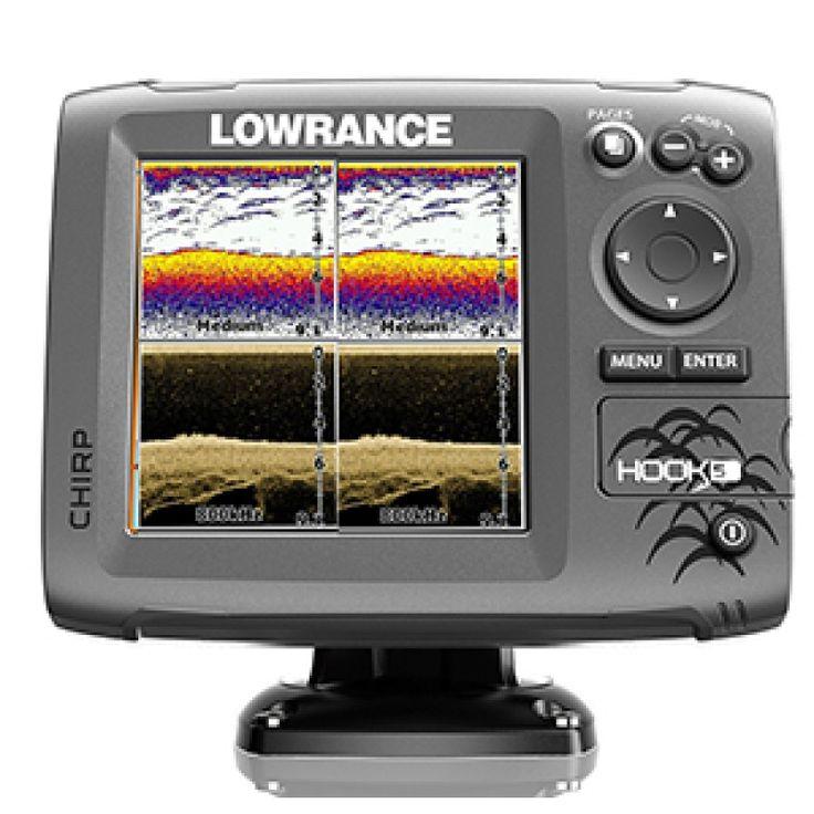 Sonda Lowrance Hook 5X Chirp con Transductor Popa . LaLowrance Hook 5xes una sonda que combina las ventajas de la sonda CHIRP y la tecnología DownSca