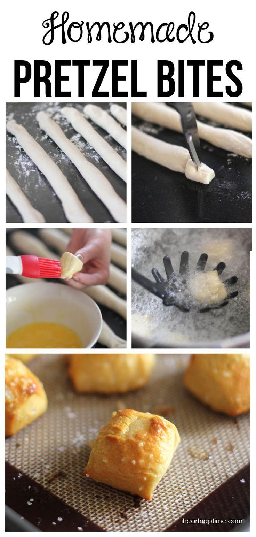 Easy & delicious homemade pretzel bites on iheartnaptime.net ...make them in 30 minutes!