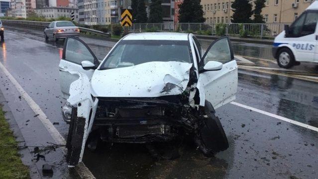 Çaykur Rizesporlu Leonard Kweuke Trafik kazası geçirdi