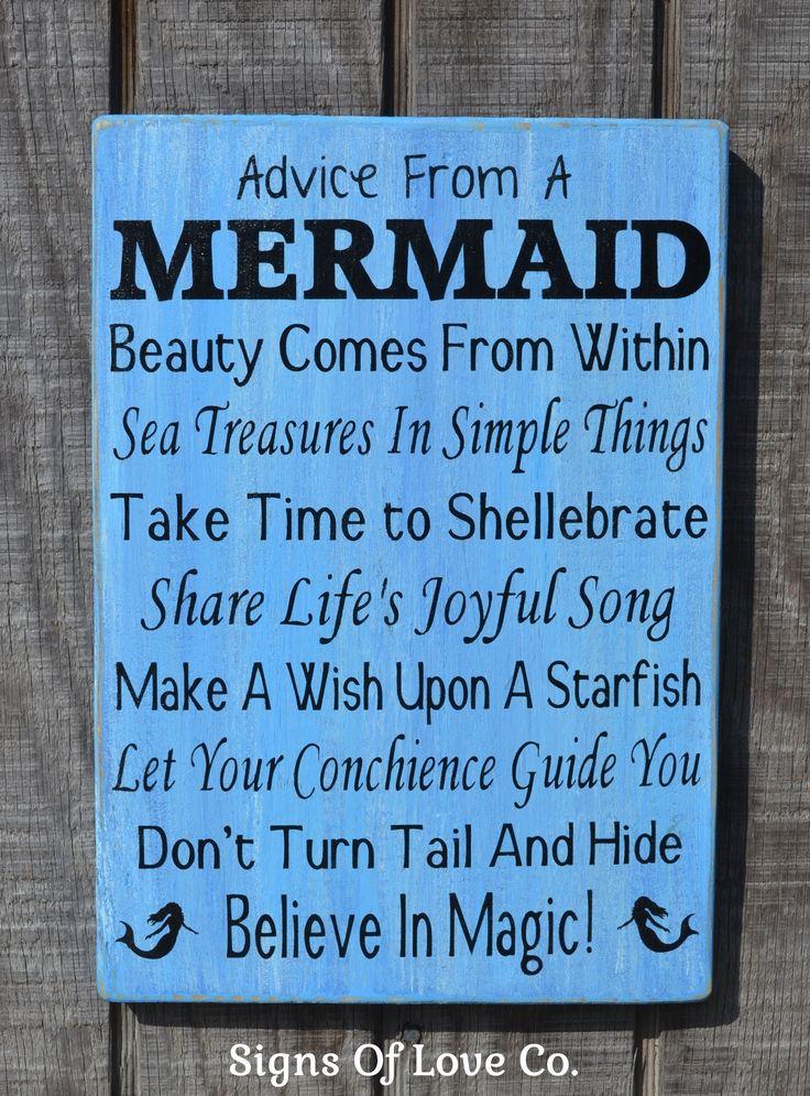 Beach Signs Beach Decor Mermaid Sign Advice From A