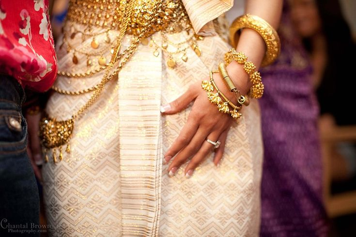 Cambodian Wedding wearing beautiful gold dress and jewelry - By Dallas Chantal Brown Photography.  www.chantalbrownphotography.com