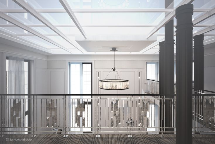 HOUSE INTERIOR. MEZZANINE. STEEL AND GLASS CEILING. designed by tarnowskidivision