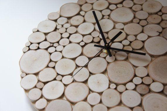betulla bianca naturale foresta legno orologio di urbanplusforest