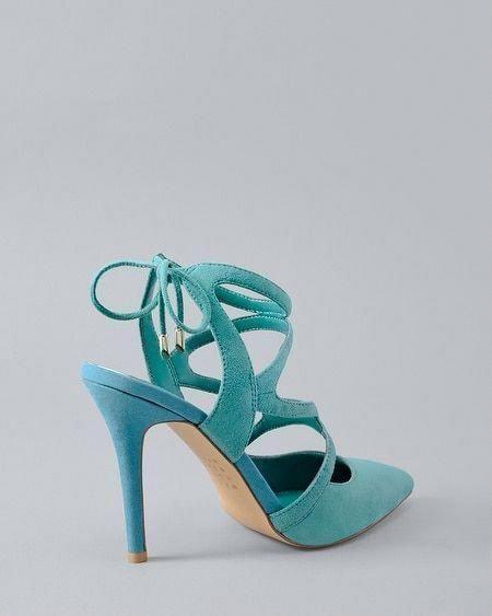 451b7457d8a9 Women s Marlow Suede Strappy Heels by White House Black Market  Promheels   Blackhighheels