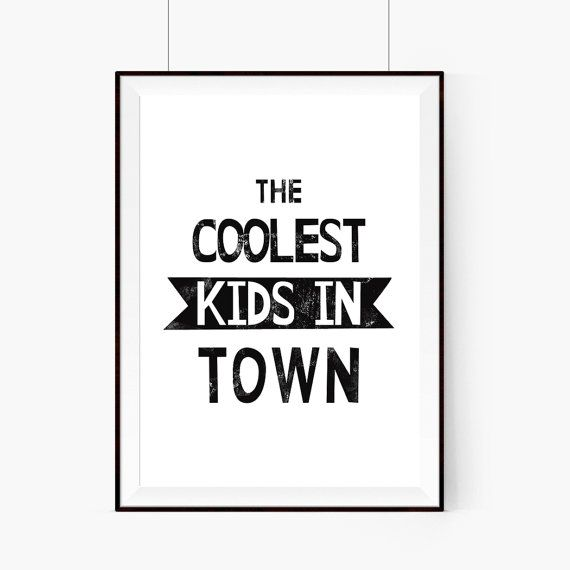 The coolest kids in town Boy Room DecorWall by WeJustLikePrints