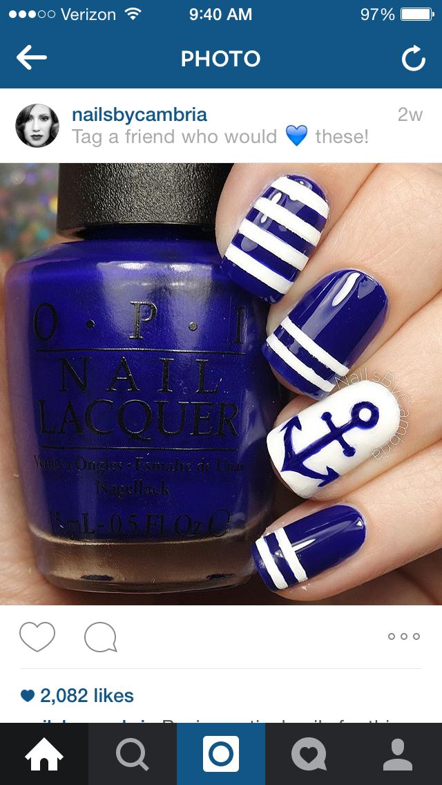 Conquer the anchors with this blue and