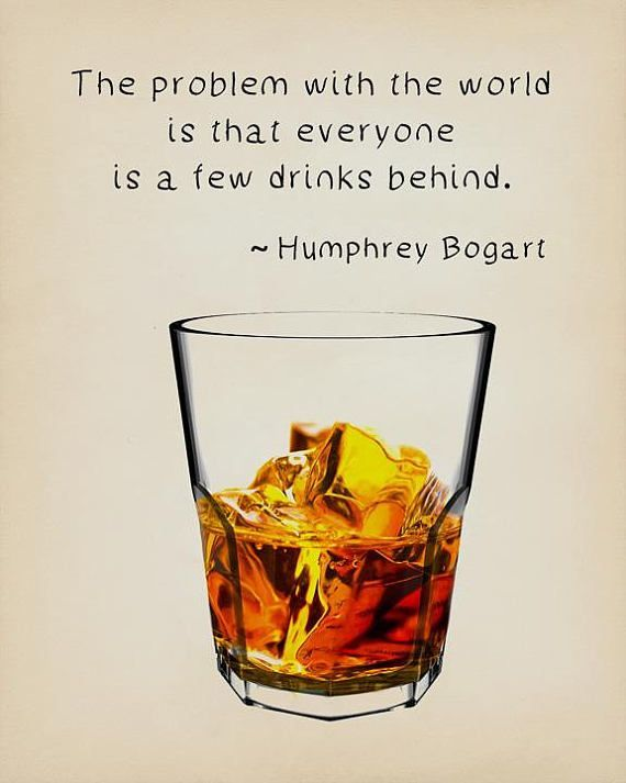 Whiskey Poster, Humphrey Bogart Quote, Bar Art, Whiskey