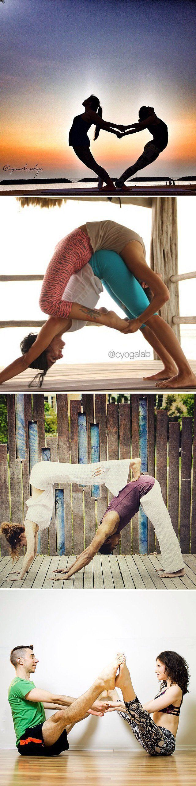 Pin for Later: Partner Yoga Poses For Friends and Lovers
