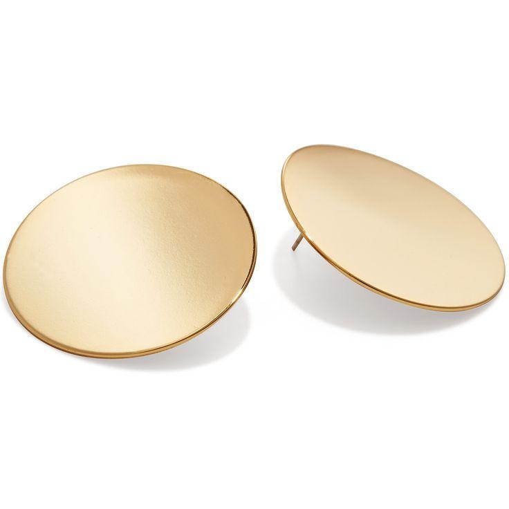 Ariel Earrings by Jenny Bird in High Polish Gold