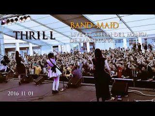 Kanami Miku: Band-Maid - Thrill/Live in barcelona /MULTI CAM Version   BAND-MAID / Thrill -MULTI CAM EDIT VerSalon del Manga Barcelona Spain 2016 11/1 BAND-MAID FAN Loungehttps://plus.google.com/communities/1... スペインBAND-MAIDライブの素晴らしい動画が2本UPされていたので マルチカム編集してみました 映像とサウンドも少しリファインしています Thanks to original uploader Mision Tokyo and RTVE .es BAND MAID /Thrill/Live in barcelona /MULTI CAM Ver Band Maid Salon del Manga 2016 Kanami Miku