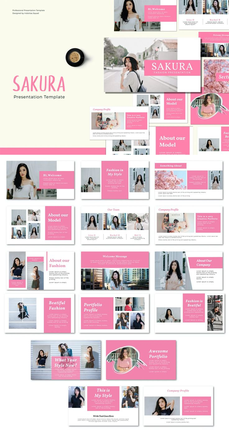 Sakura Pink Google Slide Presentation Template