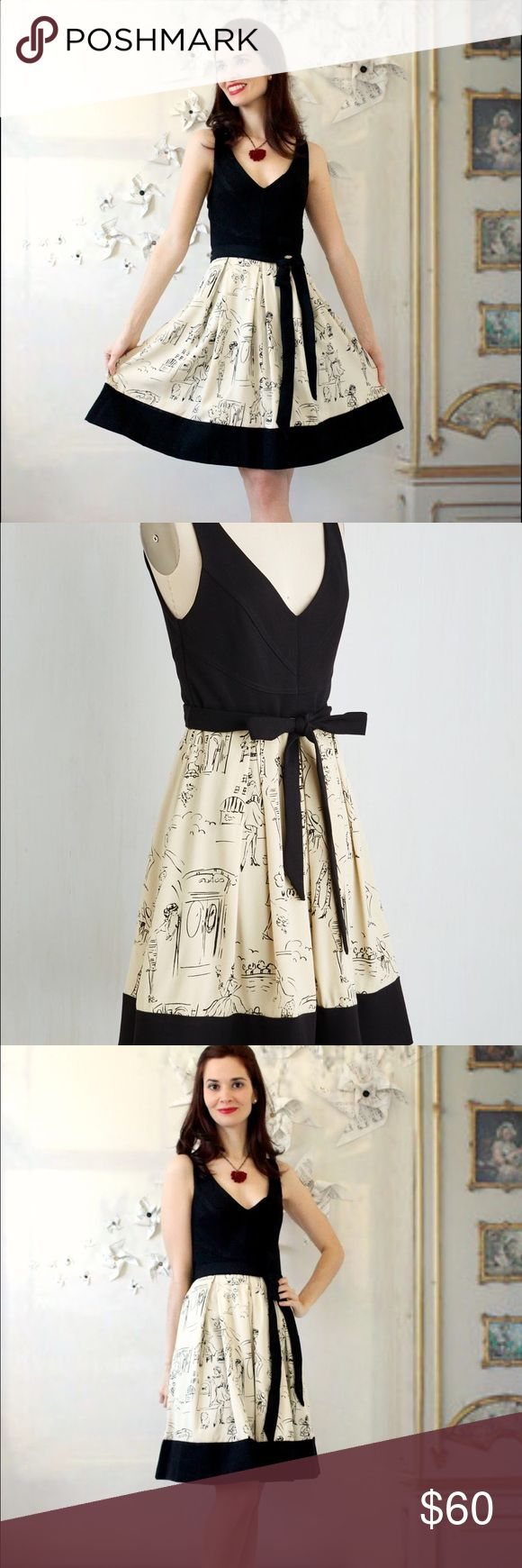 Cococinno by Eva Franco Marseilles Memories From Modcloth - NWT - Medium ModCloth Dresses Midi