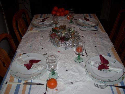 One of Christmas table Une de mes tales de Noël
