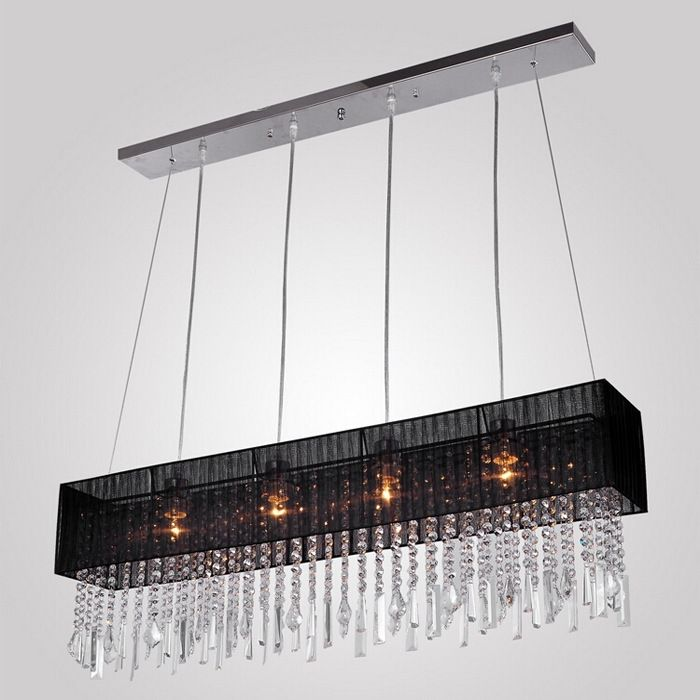 126.25$  Watch now - http://alihrw.worldwells.pw/go.php?t=32716065485 - Crystal Chandelier Light For Dining Room Led Crystal Chandeliers Square Lamp Rectangle Living Room Lights Curtain Lights WPL086