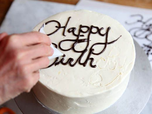 Come back to study this one.  A lot of pro tips. ... How to write on a cake