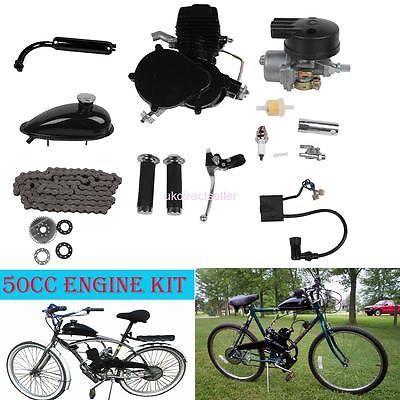 50cc 2-Stroke Engine Motor Kit for Bike Petrol Gas Motorized 2 Cycle Bicycle kit