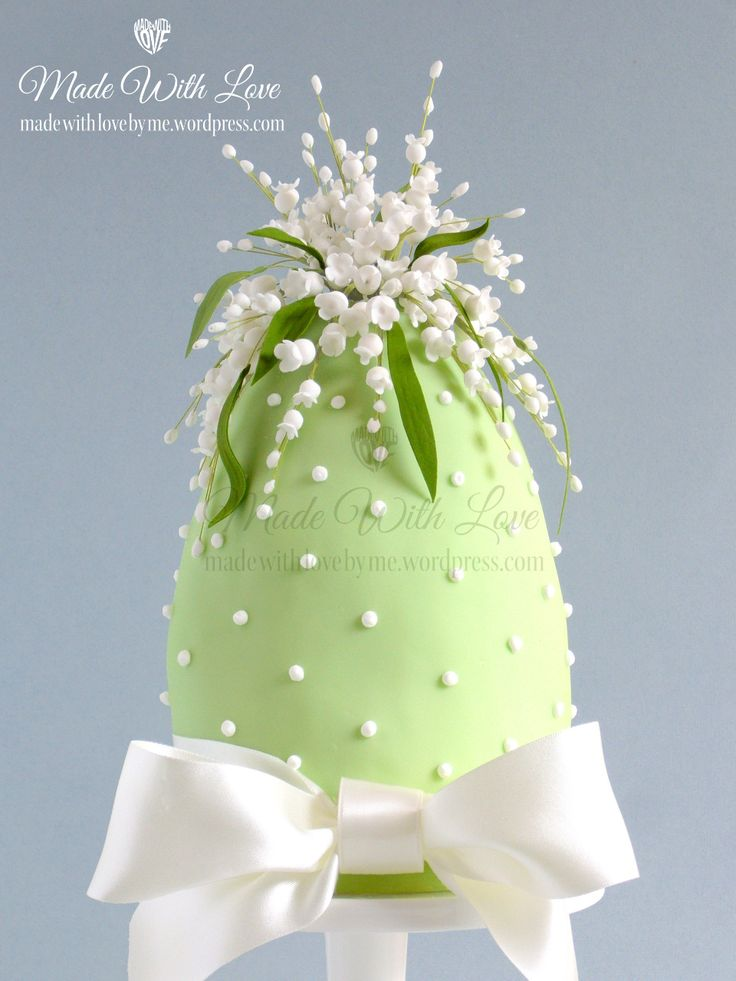 Lily of the Valley Easter Egg Cake