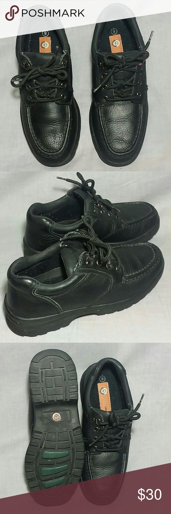Men's EARTH SHOE Shoes Black 8 M Leather Lace-ups Item is in a good condition, NO PETS AND SMOKE FREE HOME. Earth Shoe  Shoes Boat Shoes
