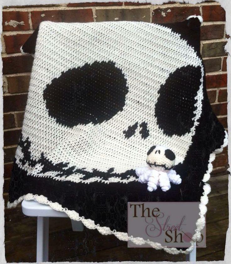 Free Crochet Pattern For Jack Skellington : 17 Best images about Crochet blankets on Pinterest ...