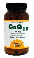 Country Life Maxi Sorb CoQ-10 30mg 50 SoftGels