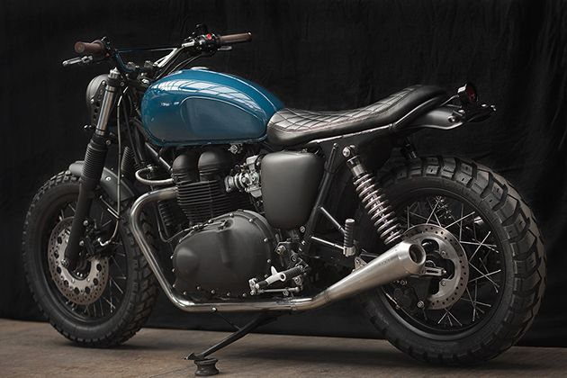 Fraaie custom Triumph Thruxton 900 voor de ontspannen rider | Want.nl
