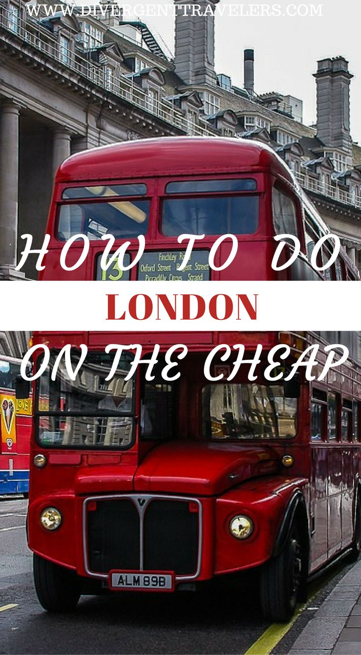 How to do London on the cheap. A visit to London needn't break the bank. There's a wealth of free and discounted attractions, cheap London travel options and budget accommodation to choose from. London is great for sightseeing because so much is free here. It makes sightseeing on a budget really easy. Click to read more at https://www.divergenttravelers.com/things-to-do-in-london/ #London #Travel #Budget