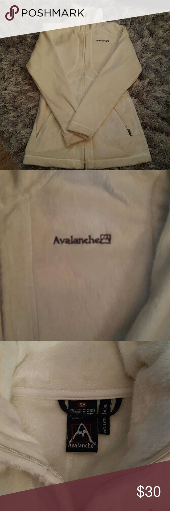 Avalanche Cream Zip Up Jacket Worn once. Good shape. It's a little longer length jacket avalanche Jackets & Coats