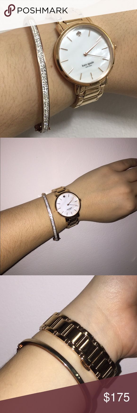 Kate Spade rose gold watch Rock this beautiful Kate Spade rose gold watch. Comes with original Kate Spade box and extra links. Hardly worn. Looking to sell for an Apple Watch! kate spade Jewelry