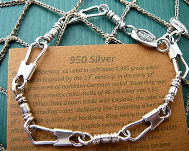The Fishers of Men Bracelet, sometimes called the Fisher Bracelet is made of the highet quality 950 silver. The Fisher of Men Bracelet is created by Christian Taylor.  The Fisher Bracelet is also known as the ACTS Bracelet or the Emmaus Bracelet.