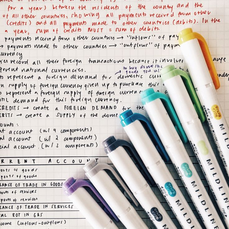 """krispyklene: """" my mom came home with some mildliners! they make studying so much more bearable. """""""