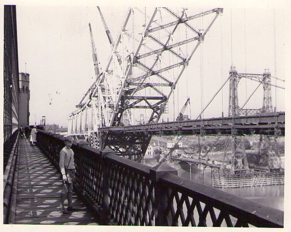 Pedestrian walkway on railway bridge across the Mersey at Widnes. Been there, done that many times.