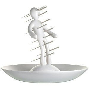 The Ex Tray   - Okay- this is just clever! It's an actual skewer tray.: Appetizers Skewers, White Holders, Raffael Iannello, Actually Skewers, Knifes Sets, Unique White, Skewers Trays, Skewers Sets, Trays Design