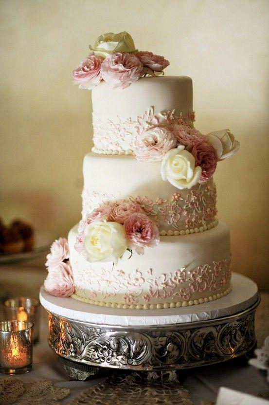 Fondant Pasteles de boda pastel de boda Vintage ♥ #805220   Weddbook