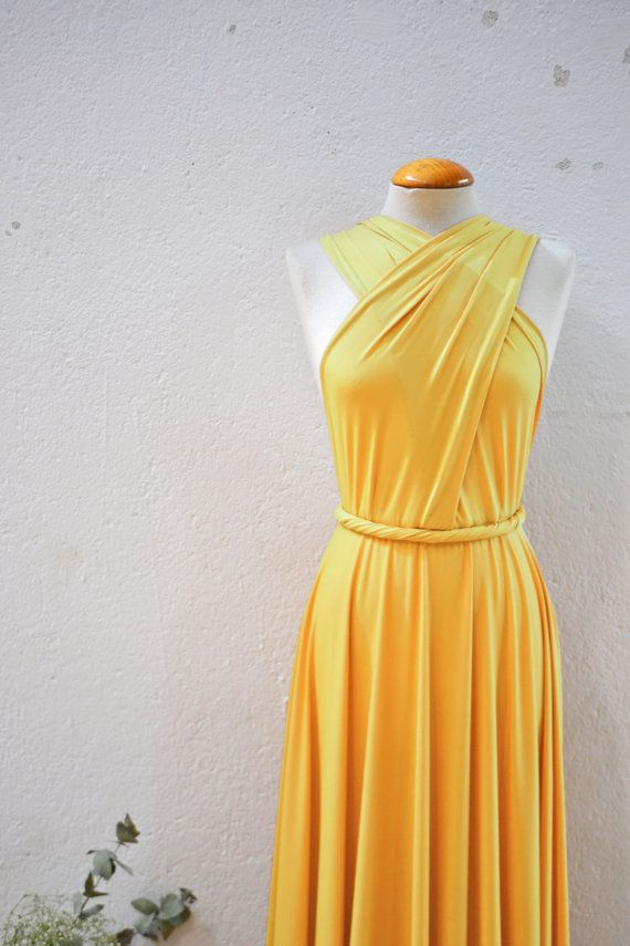 Mustard yellow dress etsy wedding