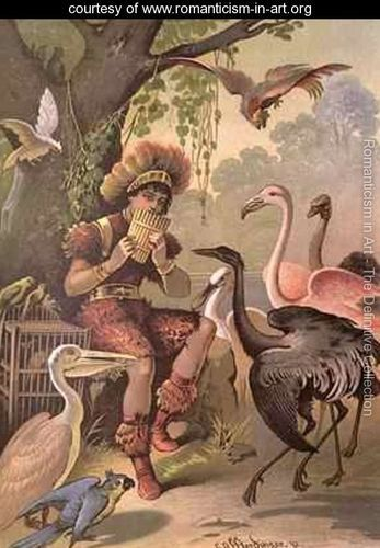 Papageno the Bird-Catcher from The Magic Flute by Wolfgang Amadeus Mozart 1756-91  Carl Offterdinger