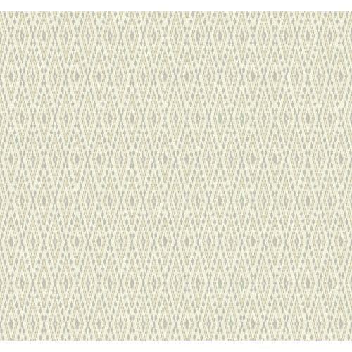 York Wallcoverings EB2043 Candice Olson Vibe Aztec Wallpaper, Silver