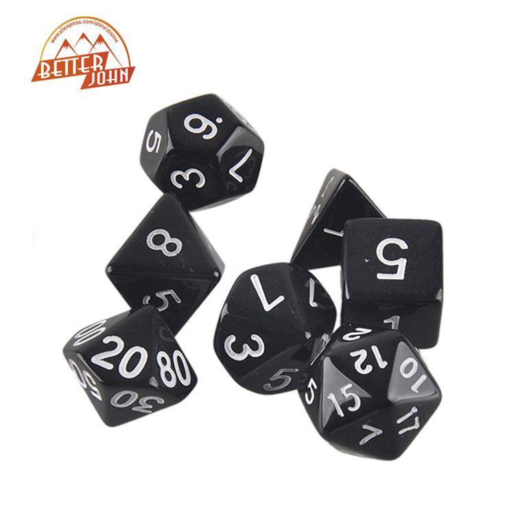 Papan Permainan Dadu KTV Luar Kualitas Tinggi Menyenangkan 7 pc/Set Dadu Multi-sided dadu dengan Efek Marmer d4 d6 d8 d10 d20 d10 d12 dadu