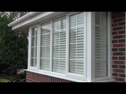 How to fit plantation window shutters onto a square box bay UPVC window