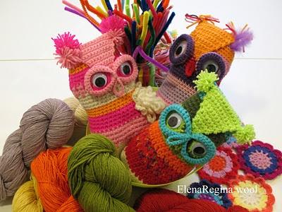 crochet owls by Elena