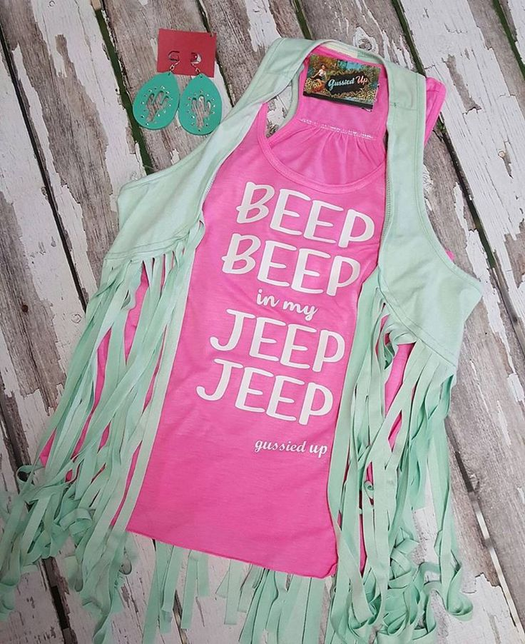 Beep Beep in my Jeep Jeep Tank Bella Brand Flowy Tank
