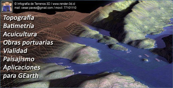 Geo Render 3D, soporte para mapas 3D, panoramicas, presentaciones de mega proyectos, vialidad, puentes, obras portuarias, bordes costeros, entre otros. www.render-3d.cl