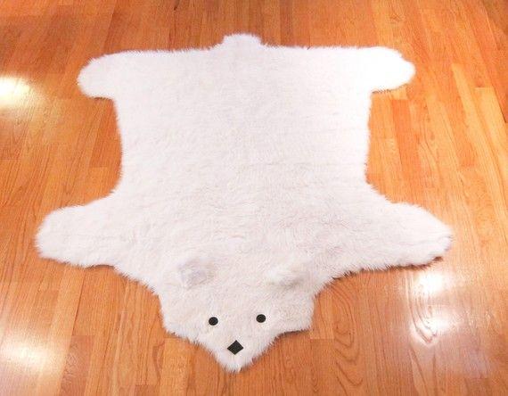 Faux Bear Rug... Would Look SO Cute In A Nursery, But Heck