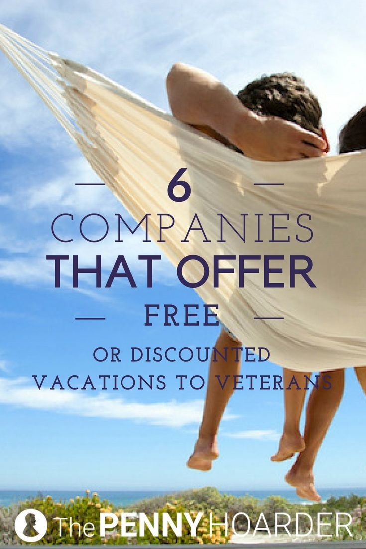 Take advantage of one of these military discounts on flights or holiday accommodations -- or even enjoy a free vacation. /thepennyhoarder/