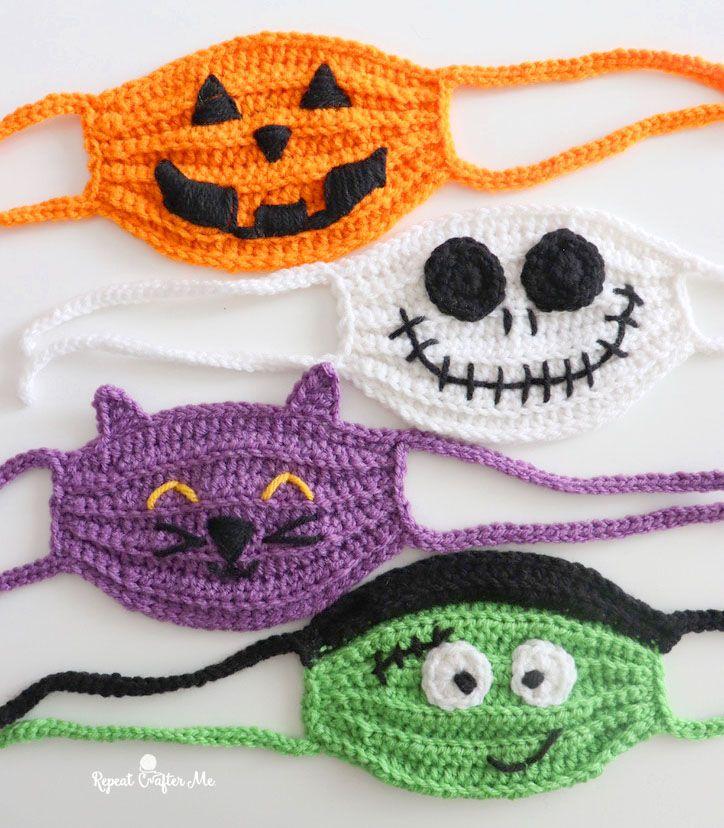 Halloween Crochet 2020 Halloween Crochet Face Masks   Repeat Crafter Me in 2020