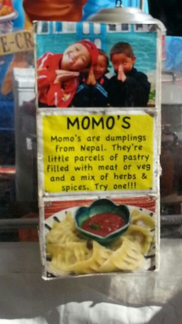 At the food festival.. Momos! Very yummy.