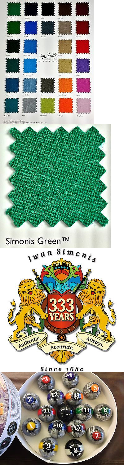 Other Billiards Accs and D cor 21210: Simonis 860Hr 9 Foot Simonis Green Pool Table Cloth + Free Lunar Rocks Ball Set -> BUY IT NOW ONLY: $353.99 on eBay!