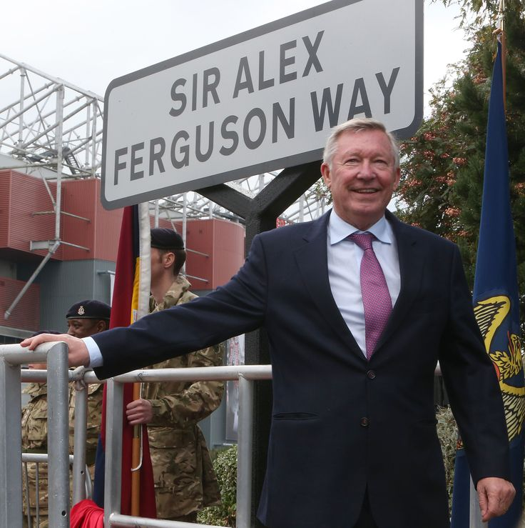 Following Sir Alex Ferguson's retirement as @manutd in 2013, the Scot was honoured by Trafford Council who renamed the road 'Water's Reach' to 'Sir Alex Ferguson Way'.